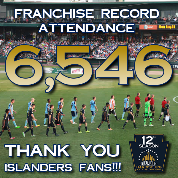 Thank you to the franchise record crowd of 6,546 fans who came out to show your support tonight! http://t.co/it9I7A3EOl