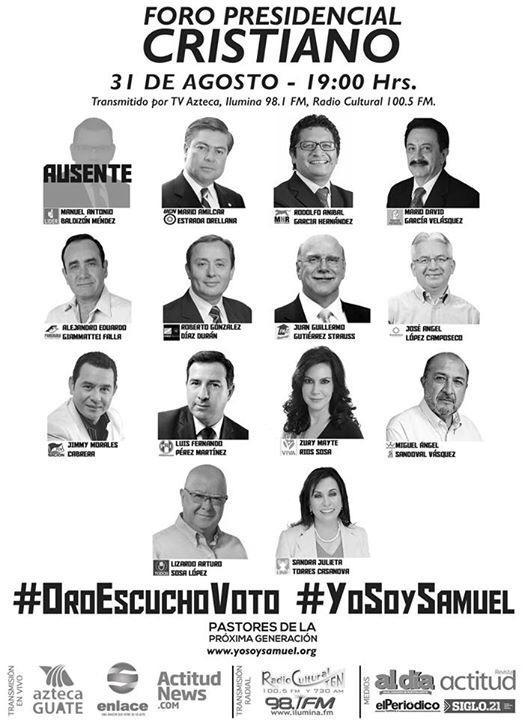 YoSoySamuel ForoCristiano Presidenciables2015pictwitter ZuINa5VZiS