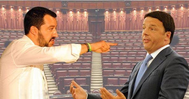 Matteo Salvini vs Matteo Renzi, il teatrino della politica italiana.