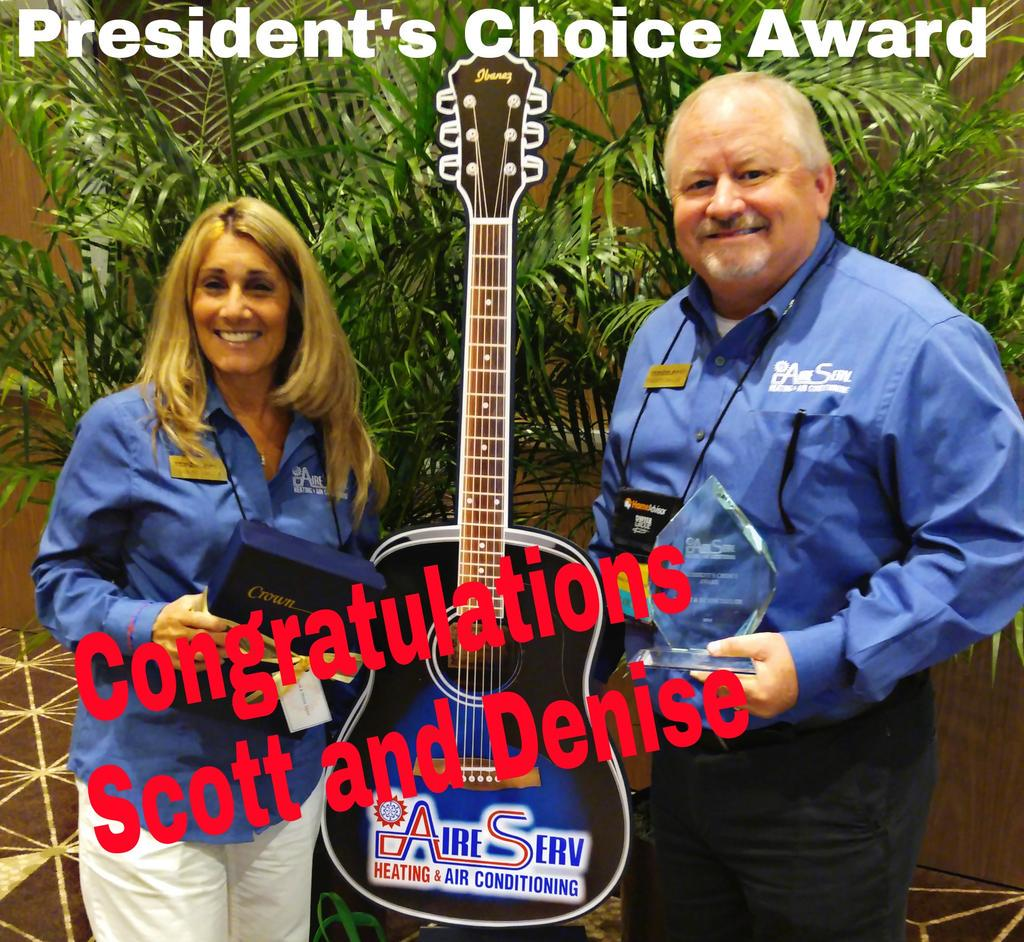 Aire Serv Of Hsv On Twitter Congratulations Goes Out To Huntsville For Winning The Presidents Choice Award At Tdgreunion2017