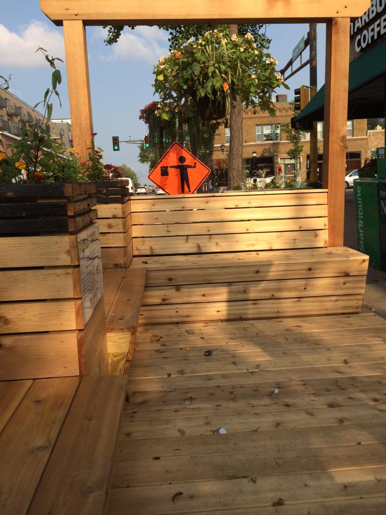 Taking a rest at #stpaulparklet on Selby! http://t.co/weAzIAI7Y8