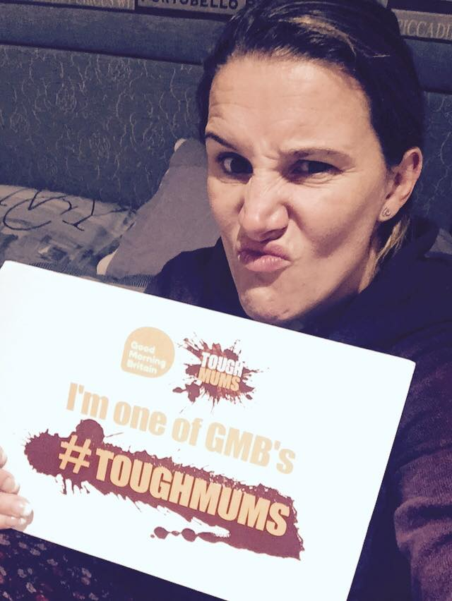 RT @SamBaileyREAL: Proud to be one of @GMB's #ToughMums!! http://t.co/20F4Abt51S