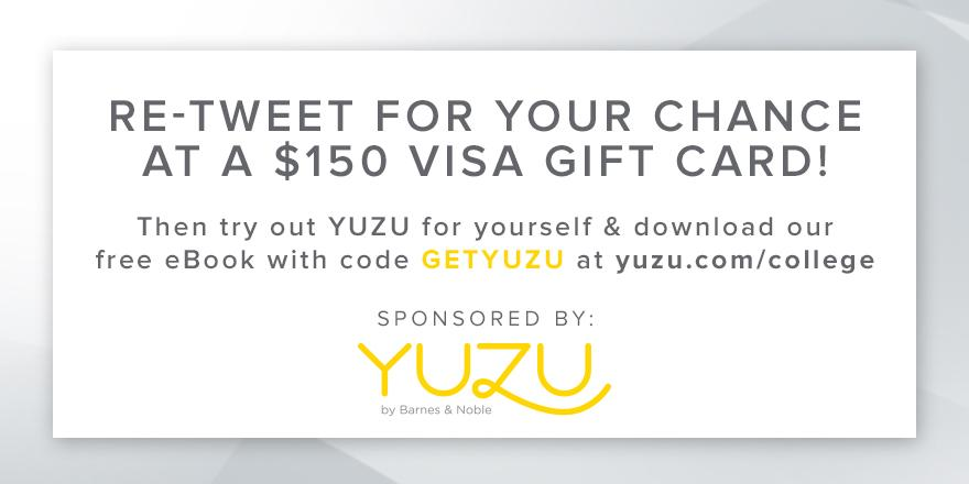 Two lucky winners will get a $150 Visa gift card from @YuzuBNE. Now that's a GREAT way to go #BacktoSchool http://t.co/yGOysd7z3F