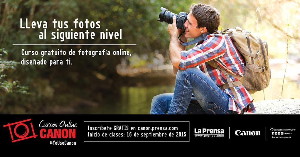 Canon Panama على تويتر Curso Gratuito De Fotografia Online Disenado Para Ti Cursosonlinecanon Http T Co Licggtpibx