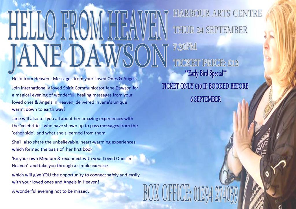 *** FREEBIE ALERT *** win 2 free tickets for my 'Hello from Heaven' show HAC Irvine on 24 September. Share to enter !