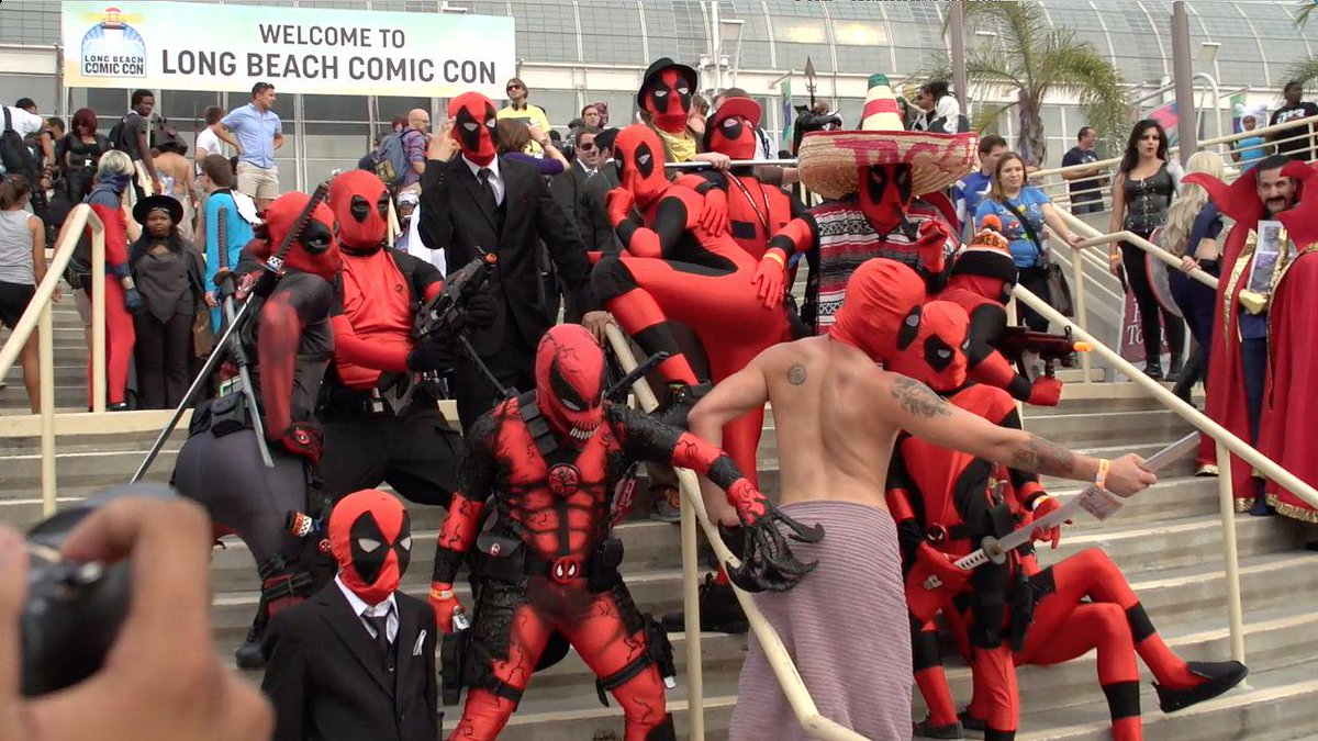 Sailor Moon Dragon Ball And Fairy Tail For Comics The Most Cosplay I Seen Was Deadpool Star Wars Notably Storm Troopers Boba Fetts