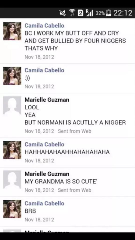 Image result for camila called normani the n word