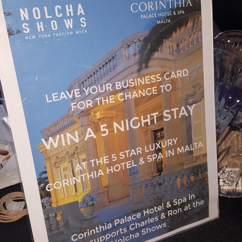 Nolcha shows on twitter at the nolchashows leave your business leave your business card for the chance to win a 5 night stay at the corinthiapalace in malta httptm8xcefx0jq reheart Choice Image