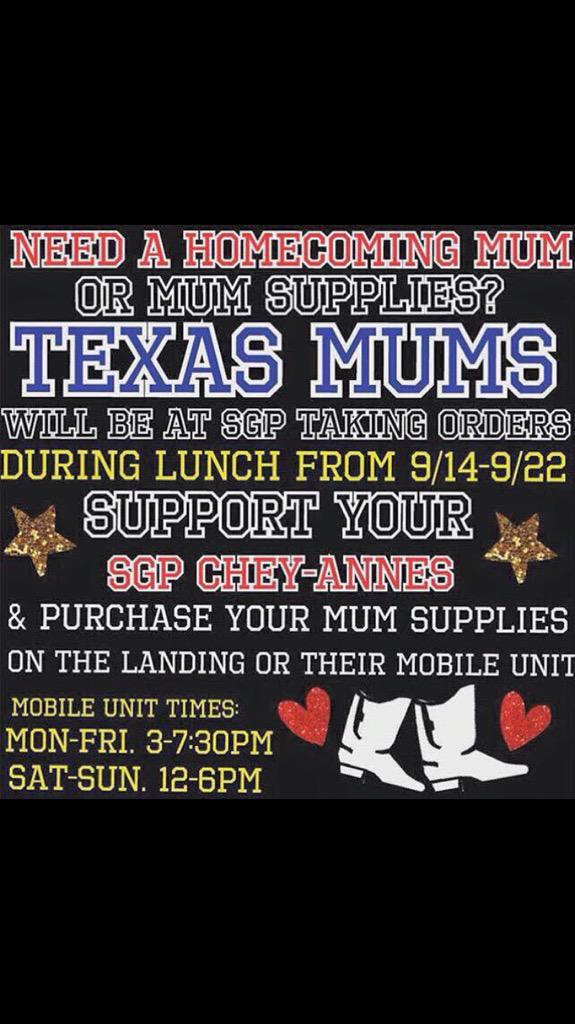 Sgp Chey Annes On Twitter Get Your Homecoming Mum From Texas