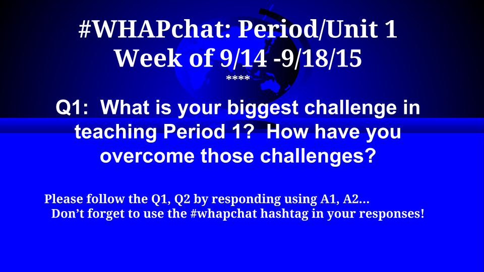 Thumbnail for #WHAPchat:  Period/Unit 1