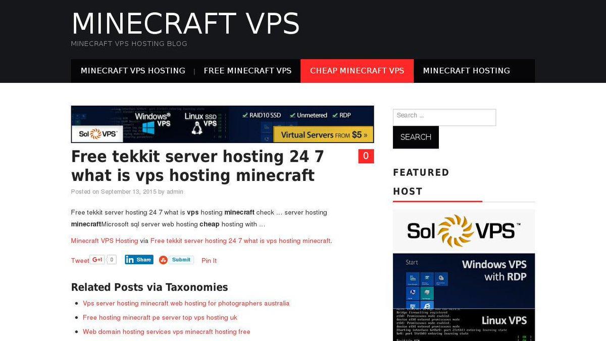minecraft servers hosting free