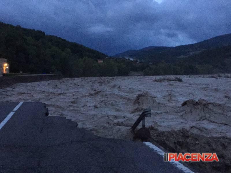 Allerta maltempo in Valnure e Valtrebbia: Esondazioni e frane nel Piacentino.