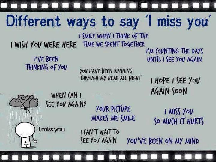 Indirect way of saying i miss you