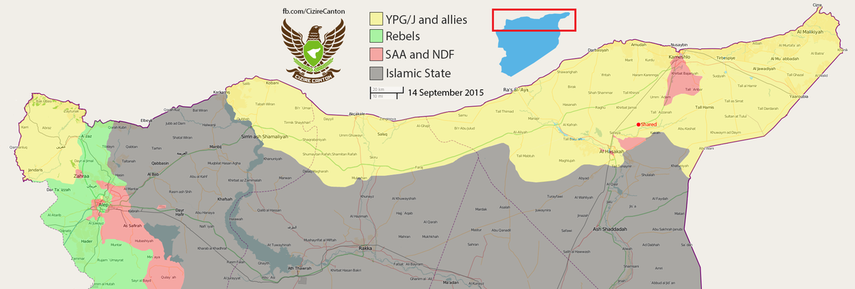 Conflict News on Twitter MAP Situation in Cizire Canton Syria