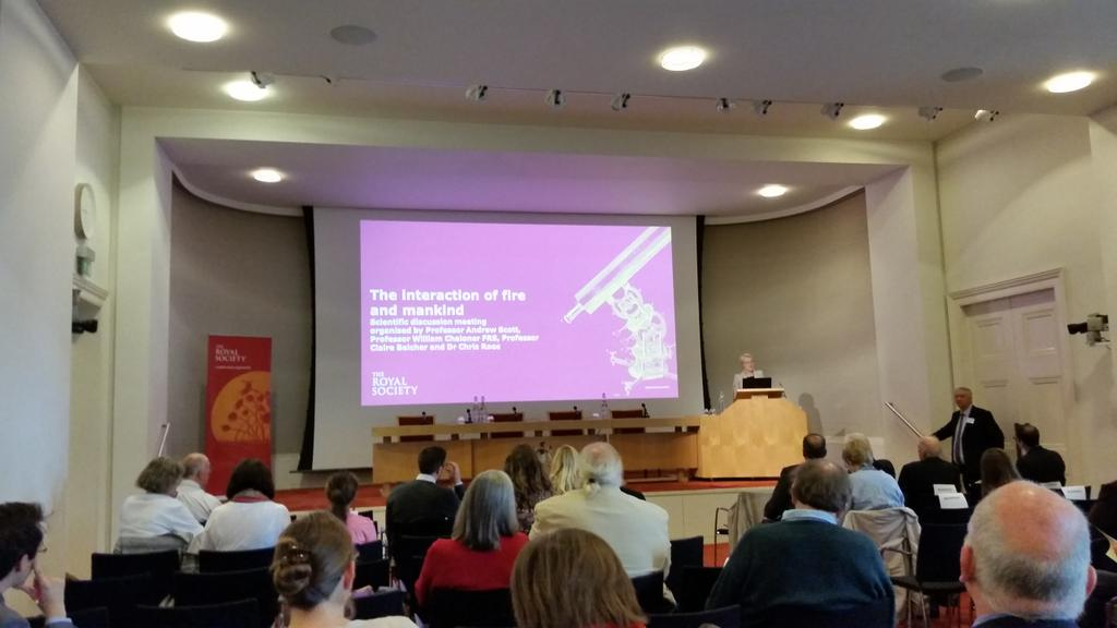 Welcome to the Royal Society #RSfire 'The interaction of fire and mankind' looking at the issues of #wildfire http://t.co/ePNBn9yf9v