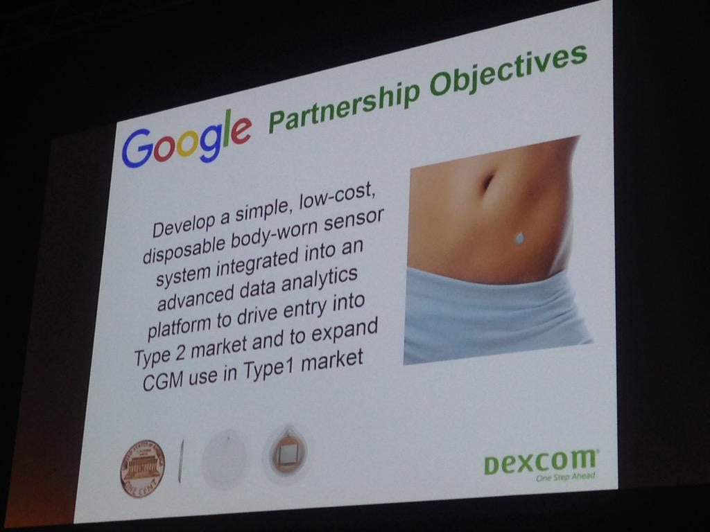 Wow! Look at how small the @Google Dexcom sensor might be! #EASD2015 http://t.co/EGcTZYb5IC