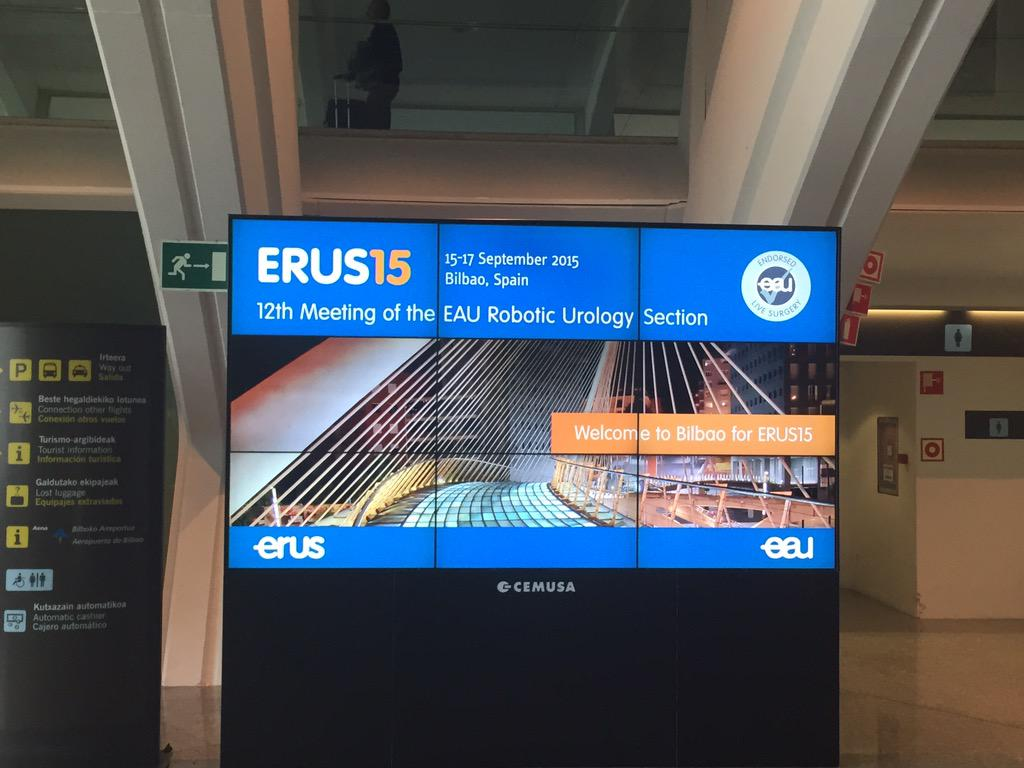 And safe and sound in Bilbao. A warm welcome at the airport for #ERUS15 delegates! http://t.co/rx7fnm8iJ2