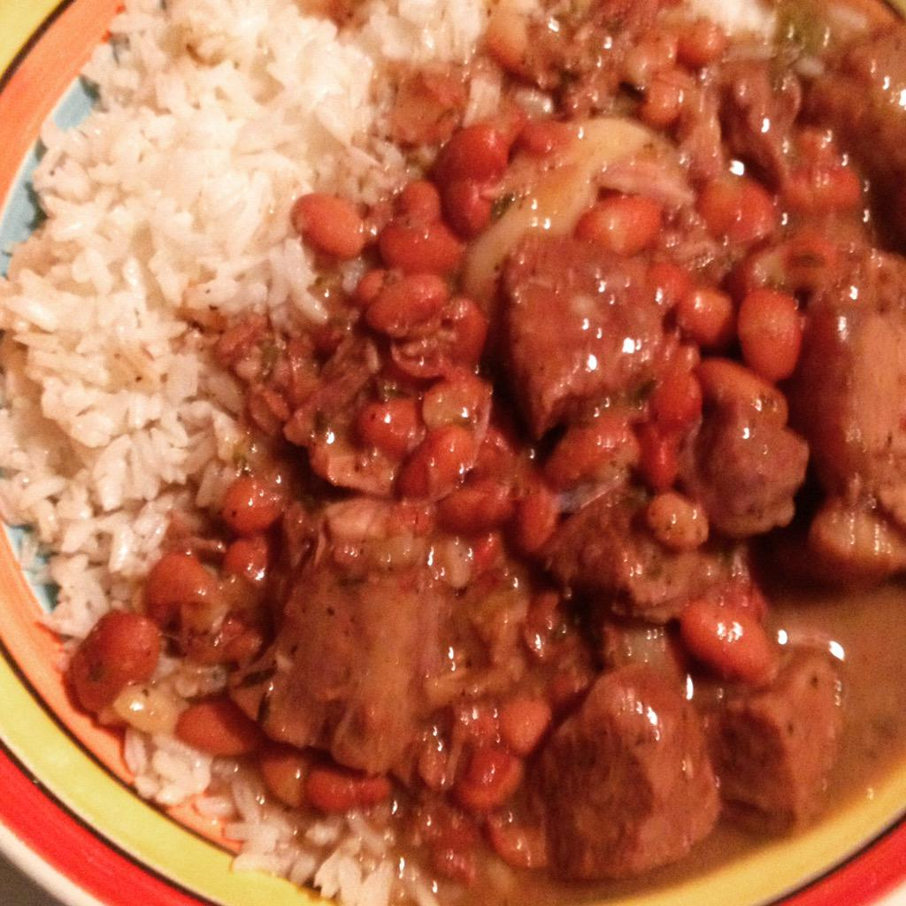 Mark Anthony Bailey On Twitter Jamaican Stew Peas W Salt Beef Oxtails And Pigtails Home Cooking At Its Best Chefbailey Jamaicanfood Food