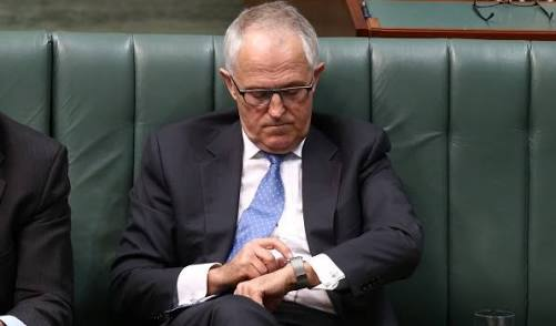 And Australia has its first smartwatch-wearing prime minister. 'Siri: Get an Uber for Mr Abbott.' #libspill