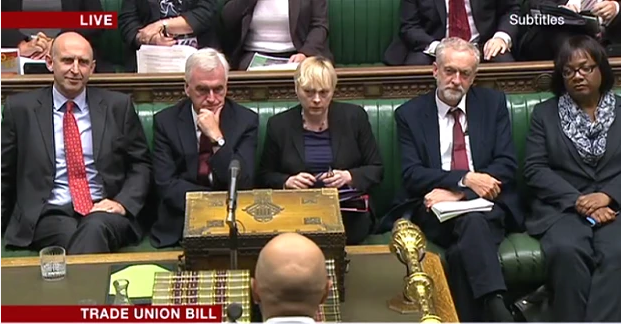 That picture you never expected to see - Jeremy Corbyn on the Labour front bench - http://t.co/4jFeTW4Ae1 http://t.co/rgzNWu0G3b