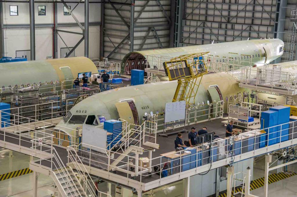 "[Internacional] Airbus abre primeira fábrica no ""território"" da concorrente Boeing CO4BuSoXAAAKAM2"