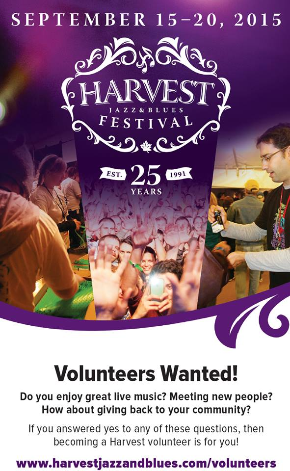 Want to experience the @Harvest_Blues in a new way this year? Why not volunteer! Positions are still available. http://t.co/StvvBLwxLL