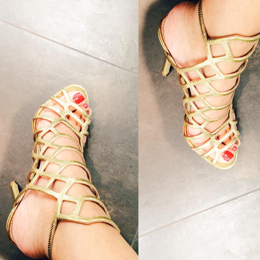 48b59ccf234 glad you ladies liked my trance caged gold sandalsbtw very hard to find  many gold sandals