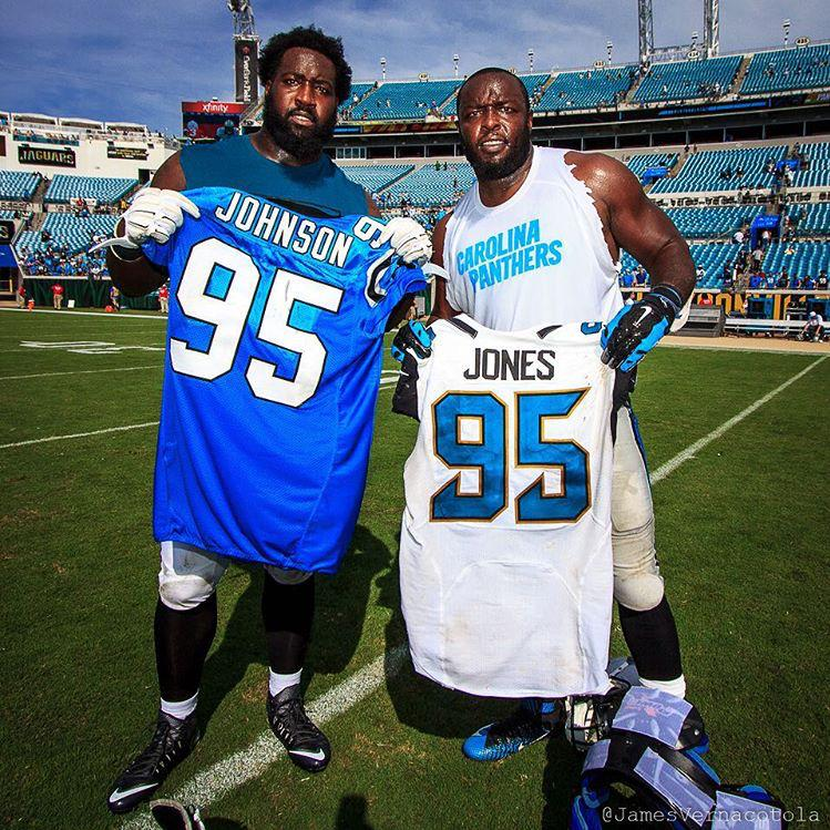 GAME Carolina Panthers Charles Johnson Jerseys