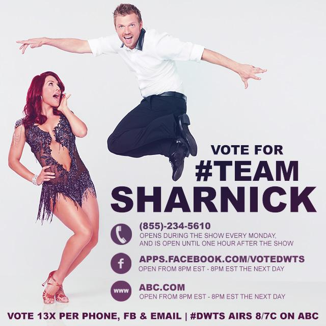 Good luck @nickcarter tonight on @DancingABC! You know I'll be watching & voting