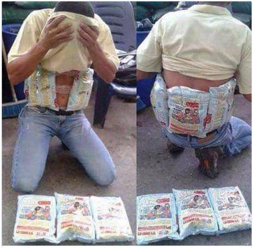 A Venezuelan man is caught smuggling.  Not cocaine.  Not heroin.  Powered milk.  Because that's how Socialism rolls. http://t.co/VRS5lu44mE