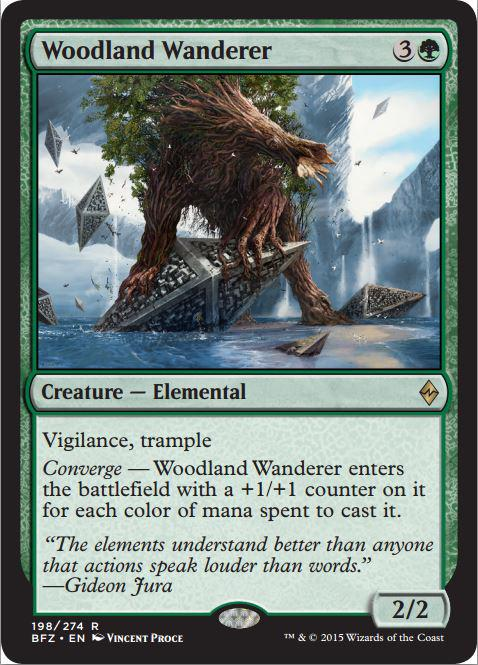 #MTGBFZ Preview Time! Scalable green basher with vigilance and trample. Plays both sides of the ball. #notanephilim http://t.co/C1s36xsLF8