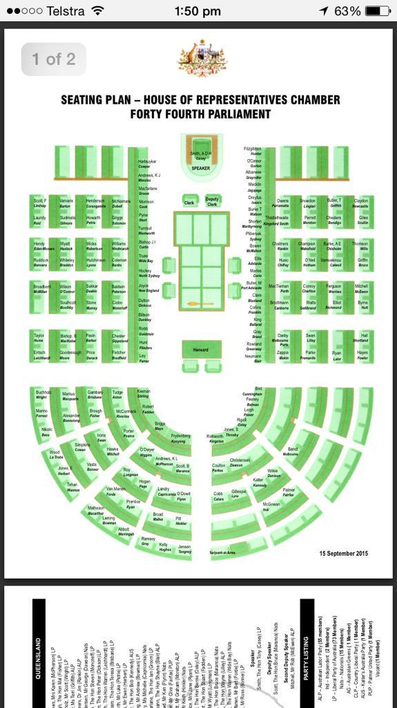 "Australian Parliament House Design: Simon Love On Twitter: ""New House Of Reps Seating Plan"