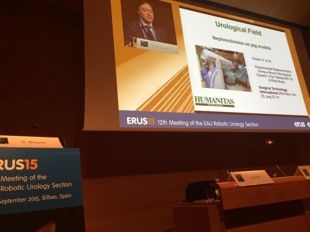 Dr Bozzini is talking about partial nephrectomy in pigs using the ALF-X system #erus15 http://t.co/OX9xem983g