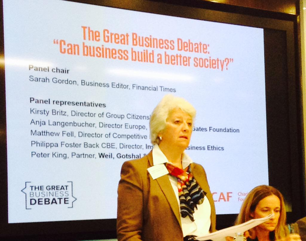 """not about doing ethical things, it is about doing business ethically"" Philippa Foster Black, #bizdebate http://t.co/6a8GXOxaI3"