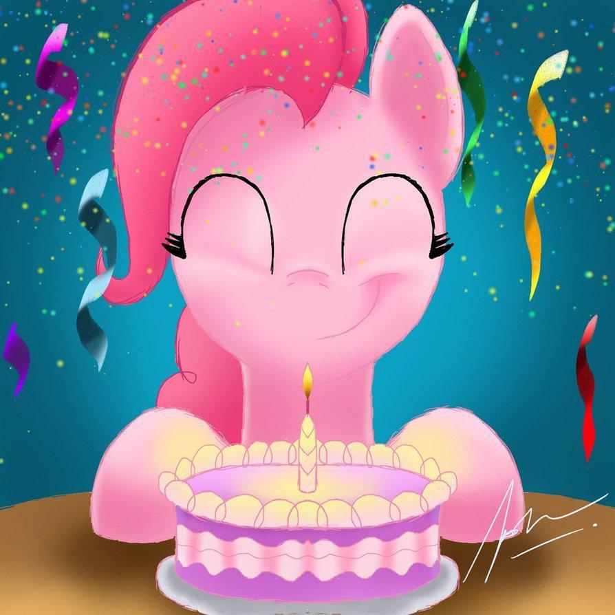 Открытка, картинки с пони на день рождения