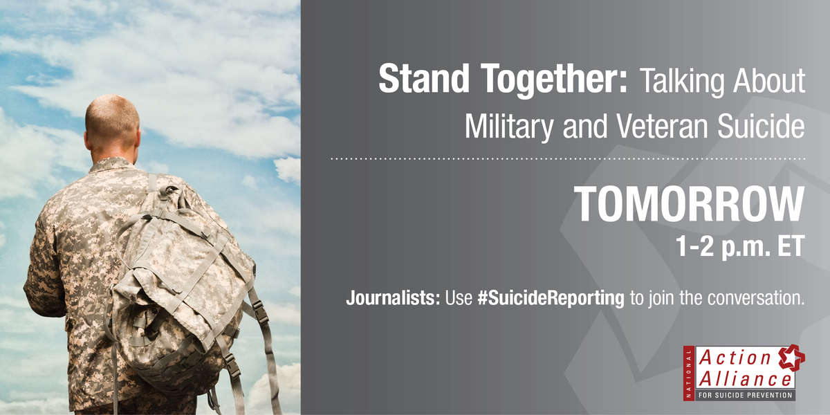 Reporting on the military? Check out tomorrow's @Action_Alliance #SuicideReporting panel: http://t.co/aTUmv0oXFZ http://t.co/FPxxmcetsq