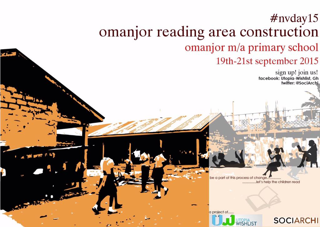 Finally met @Kuukuwa_ n Emma of @SociArchi, partners on the reading area project. Great minds ...!! @UtopiaWishlist http://t.co/ap861MTpEq