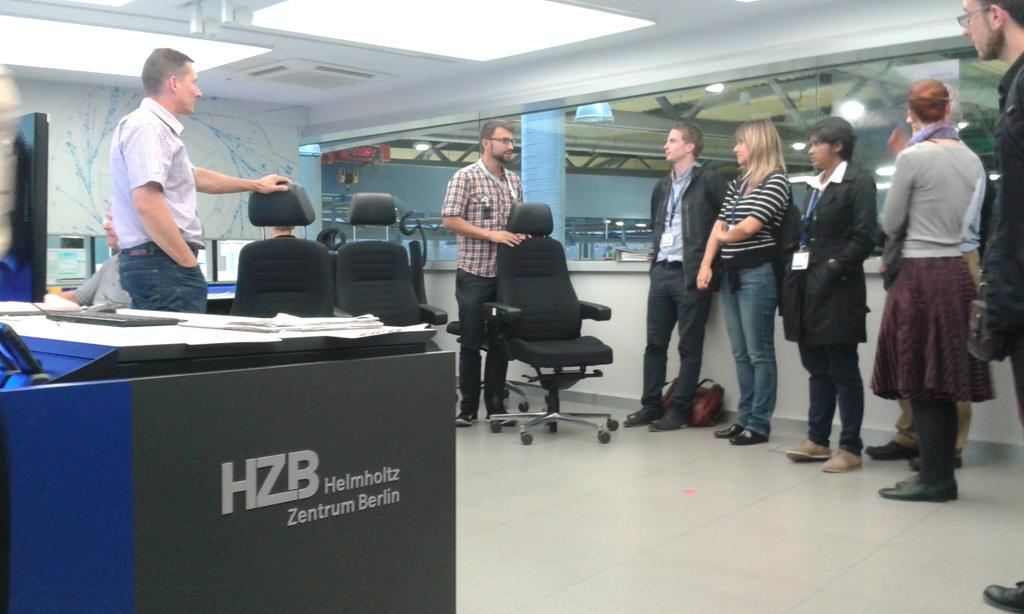 We're almost through with the big tour around @HZBde 's BESSY II! #SAS2015 http://t.co/5PNxgCDjNh