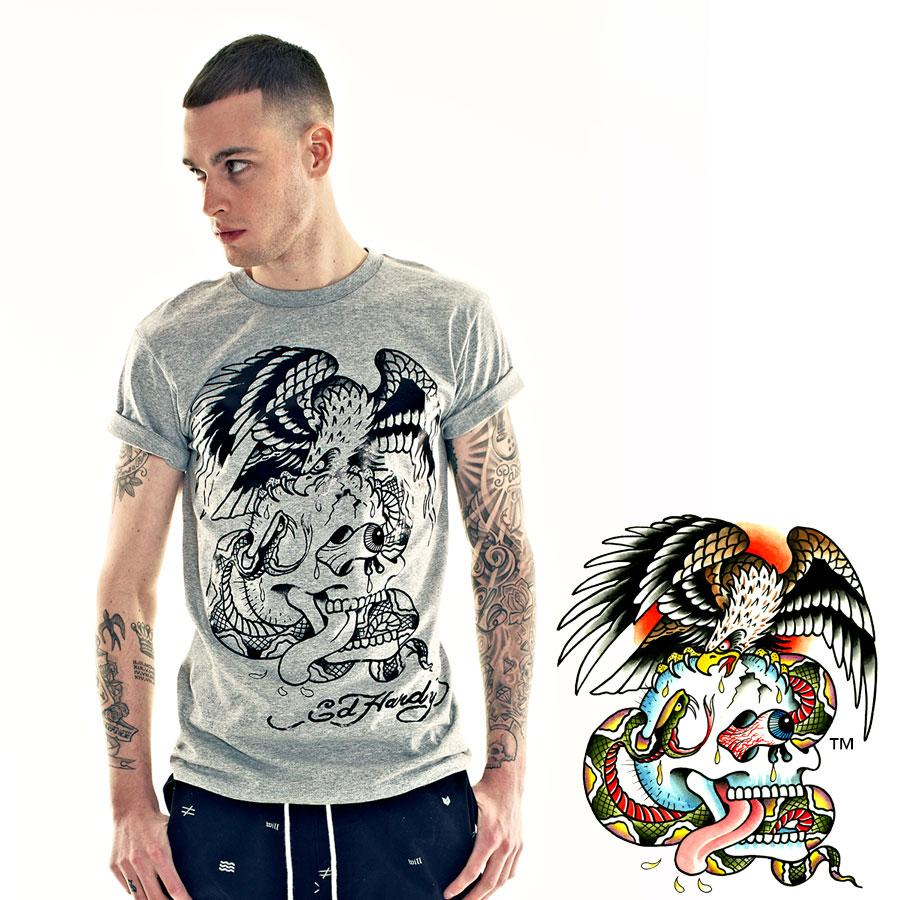 "The ""Skull & Eagle"" tee features #DonEdHardy 's original artwork from the EH vault http://t.co/n04HK4r85F #EdHardy http://t.co/7RNYsH0a6P"