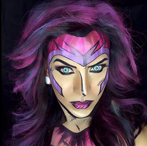 Only a superhero could pull of these comic-book inspired makeup transformations AMIRITE?! http://t.co/l9HUNiNeHi http://t.co/lrQWsYryKX