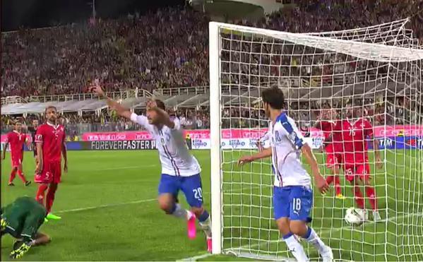 ITALIA-Malta: Risultato finale firmato ancora da Pellé - VIDEO Gol