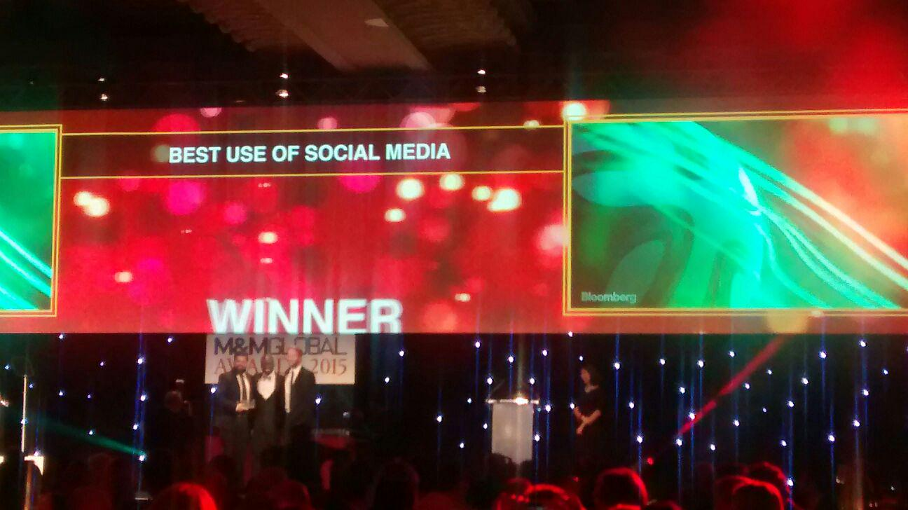 RT @mandmglobal: @wearesocial walk away with the Best Use of Social Media award for 'Brazuca'. Celebrate in style guys! #mmawards15 http://…
