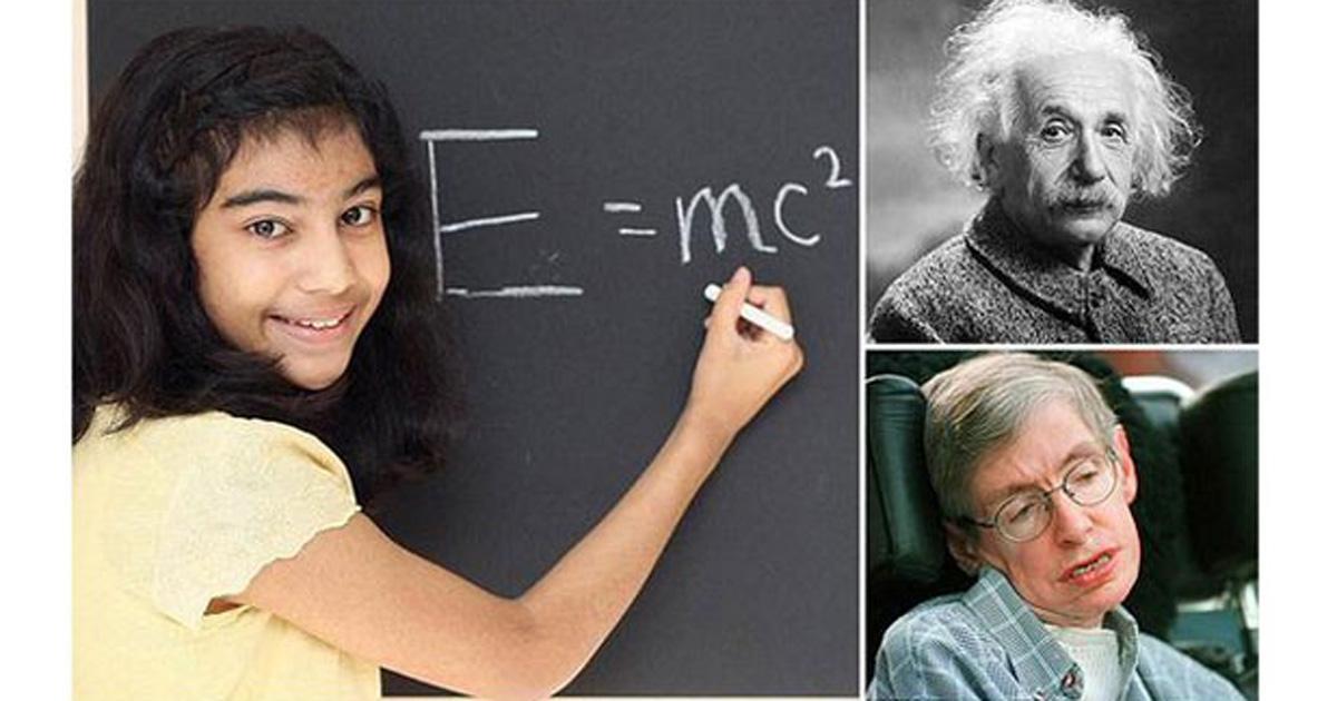 Garota de 12 anos 'supera' Einstein e tira nota máxima em teste de QI http://t.co/miBQao40nC #G1