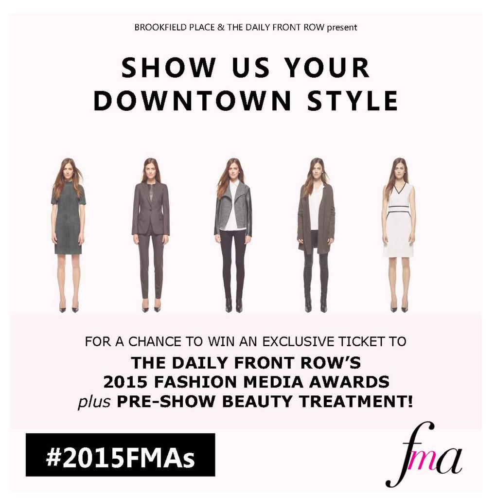 RT @BrookfieldPLNY: Win a ticket for Fashion Media Awards by showing us your Downtown style! More here: http://t.co/ZQYVT65a2v #2015FMAs ht…