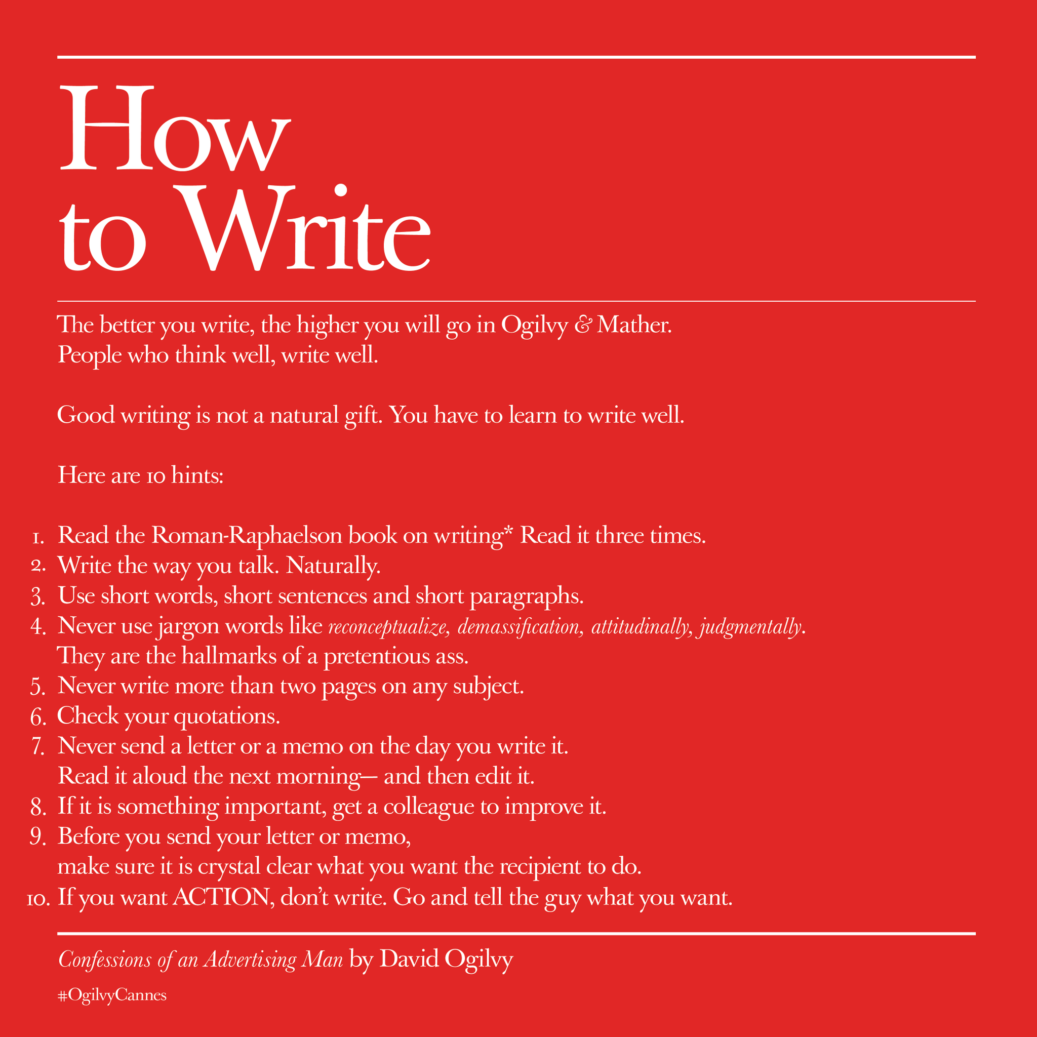 How to Write by #DavidOgilvy #TBT http://t.co/M0rPakOswt