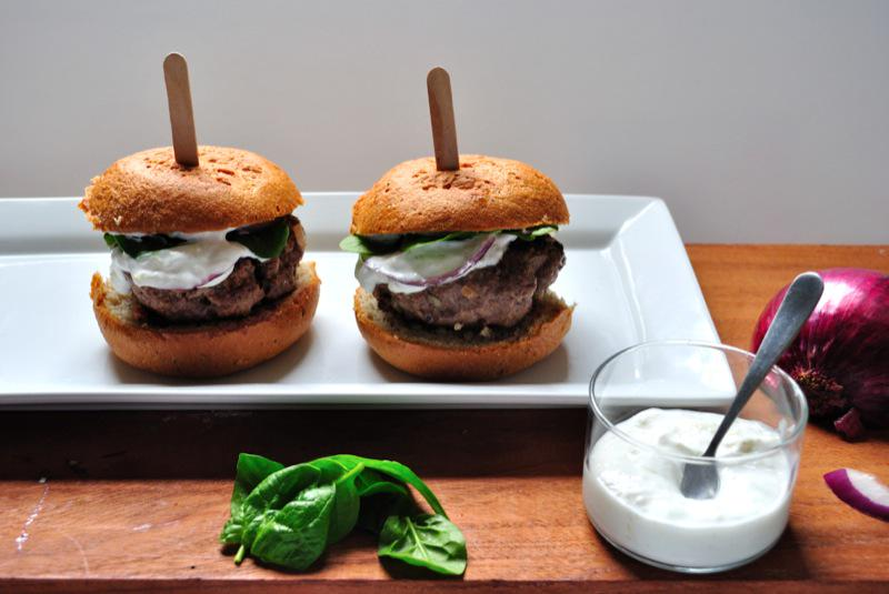 Heat up the grill!  #GlutenFree #Recipe of the Week: Gyro Burgers with Cucumber Yogurt Sauce - http://t.co/ZRPm5JKxk2 http://t.co/7QLDlyD17N