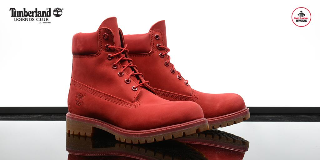 """Foot Locker on Twitter: """"The @Timberland 6-Inch Boot 'Red ..."""