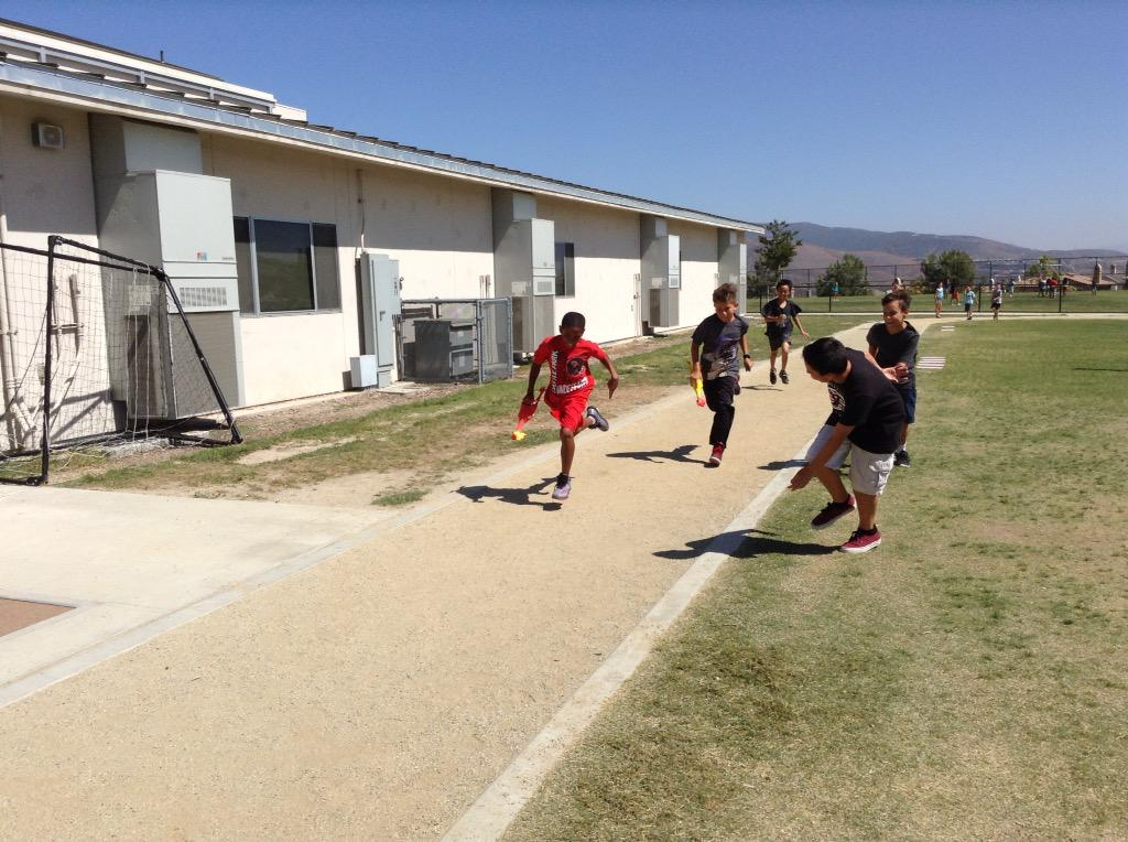 Getting our PE minutes in with rubber chicken relay races. #camlearns http://t.co/JyiiHSAdxZ