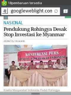 aksi free rohingya