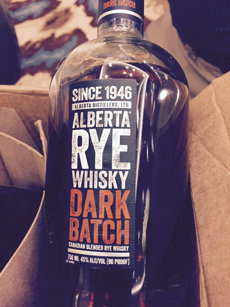 This Alberta rye #whisky is amazing. ! @beamsuntory Love it http://t.co/jwtjahPe9r